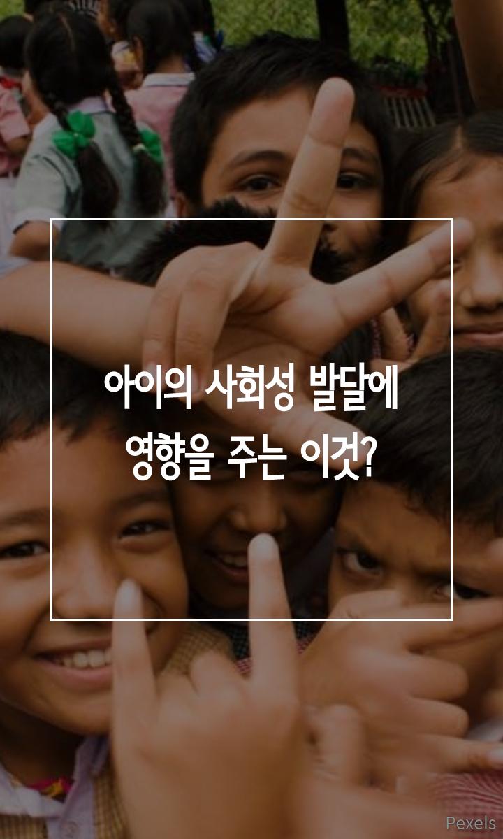 아이의 사회성 발달에 영향을 주는 이것?